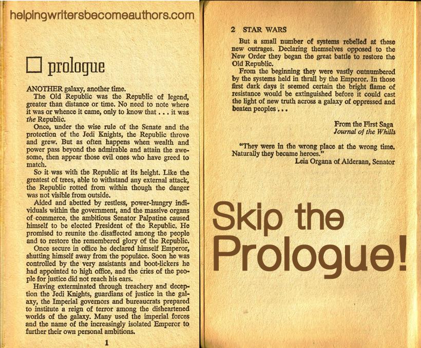 skip the prologue