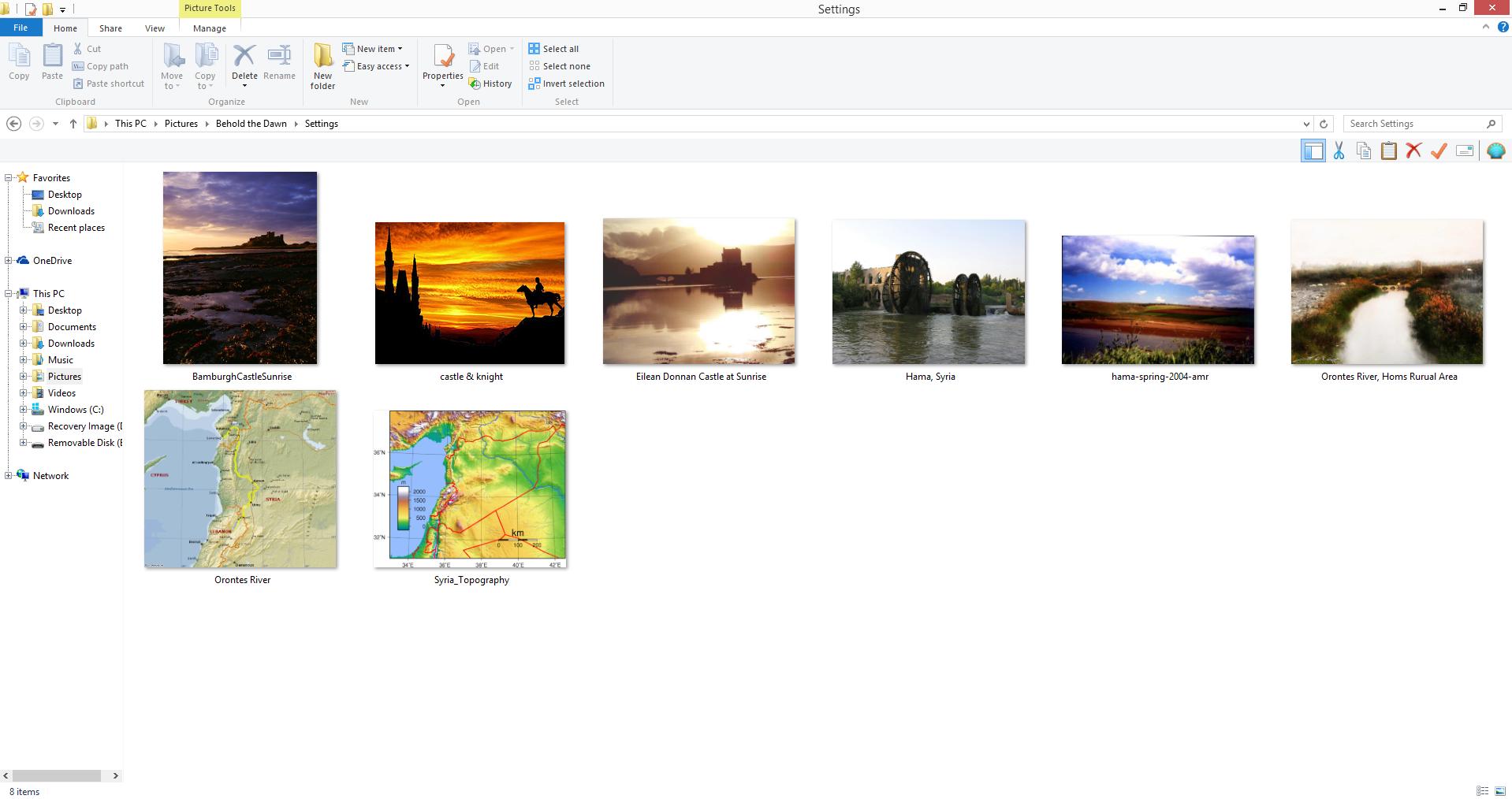 Behold the Dawn Settings Image Folder