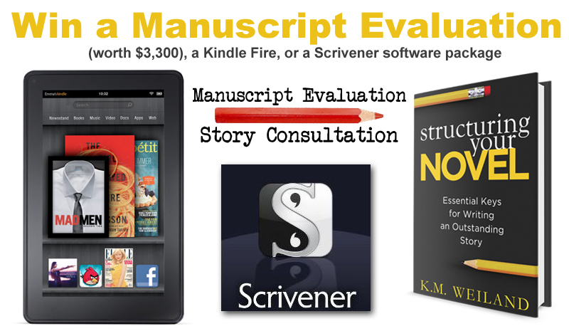 Win a Manuscript Evaluation, Kindle Fire, or Scrivener Software Package