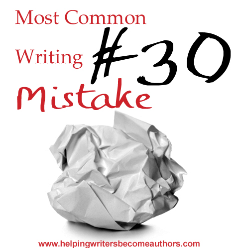 Most Common Writing Mistakes, Pt. 30: Describing Character Movements