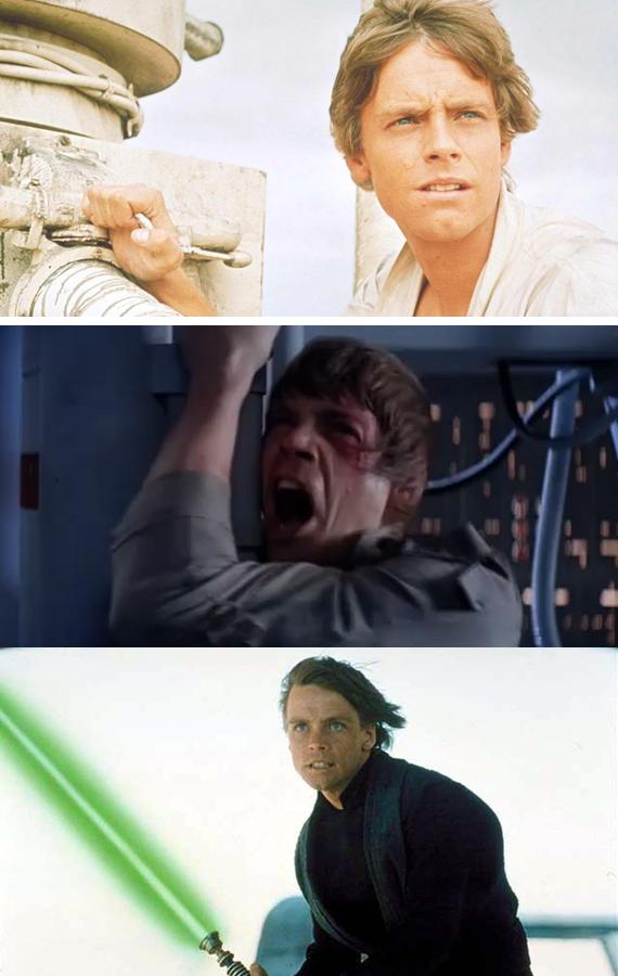 Mark Hamill Luke Skywalker Star Wars A New Hope The Empire Strikes Back Return of the Jedi