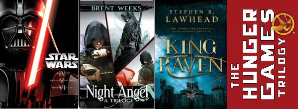 Star Wars NightAngel Brent Weeks King Raven Stephen Lawhead Hunger Games Susanne Collins