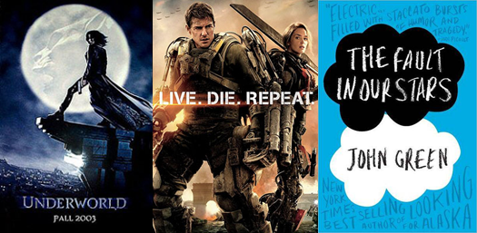 Underworld Live Die Repeat The Edge of Tomorrow Fault in Our Stars
