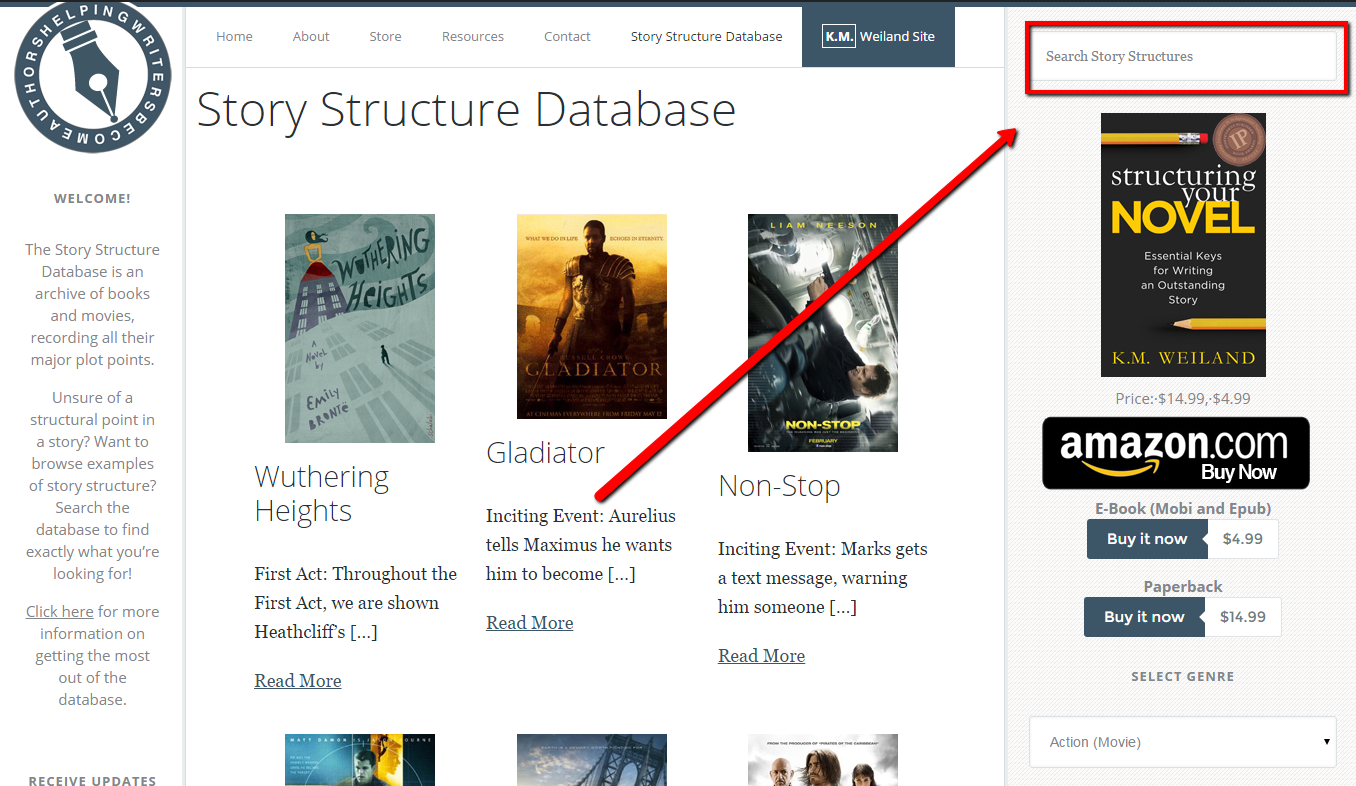 Search the Story Structure Database