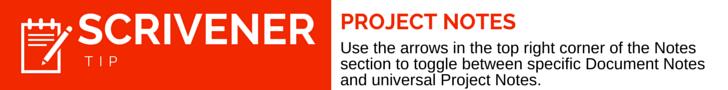 Scrivener Tip Project Notes