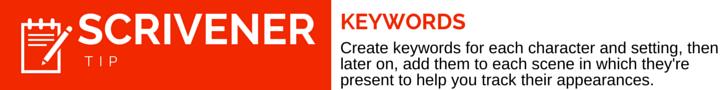 Scrivener Tip Keywords