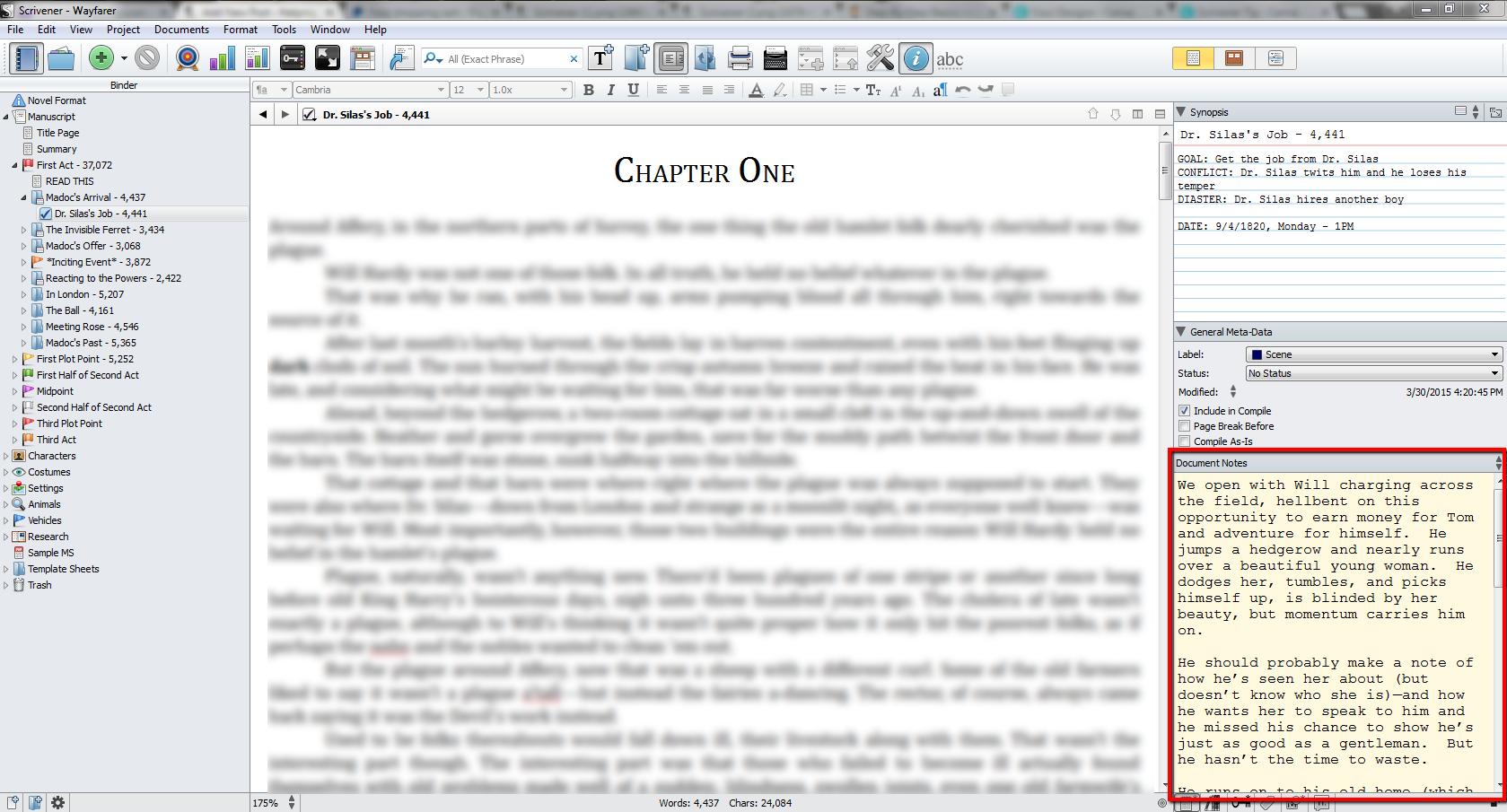Scrivener_Wayfarer_Document_Notes