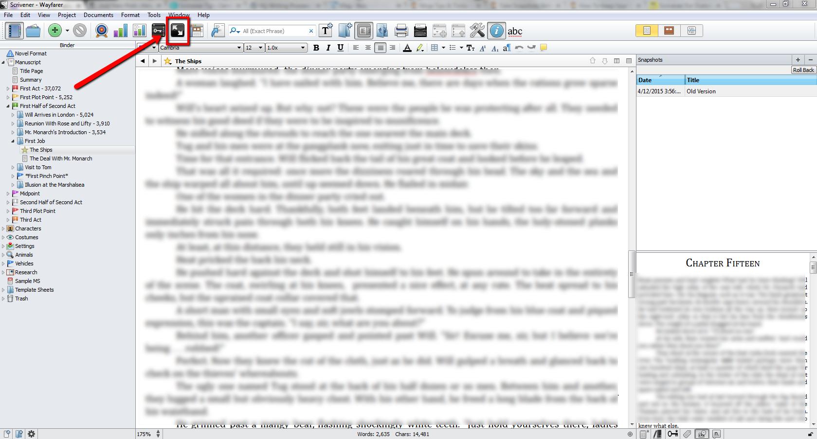 Writing_Process_Scrivener_Full_Screen_Button