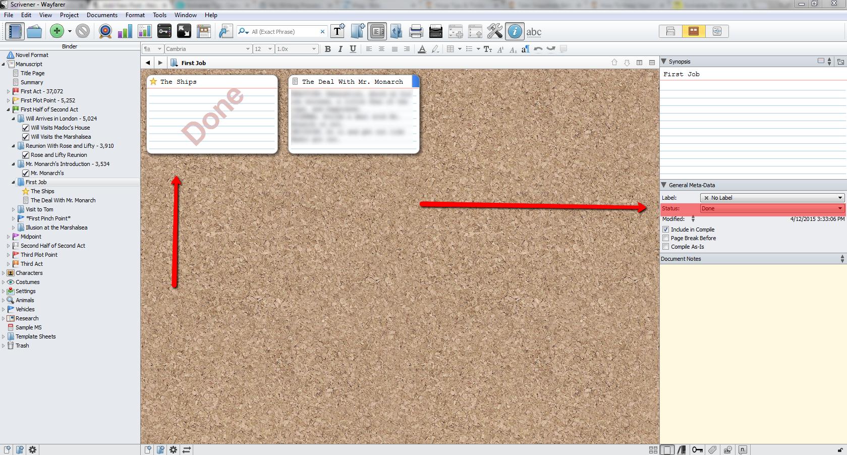 Writing_Process_Scrivener_Status