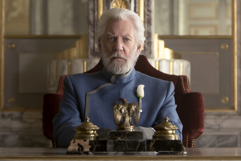 Hunger Games Mockingjay President Snow Donald Sutherland