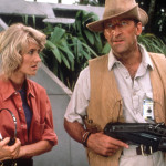 JURASSIC PARK [US 1993] LAURA DERN, BOB PECK JURASSIC PARK Date: 1993. Photo By: UNIVERSAL/AMBLIN/Ronald Grant Archive/Mary Evans/Everett Collection (10553822)