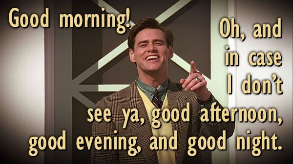 Truman Show Good Morning