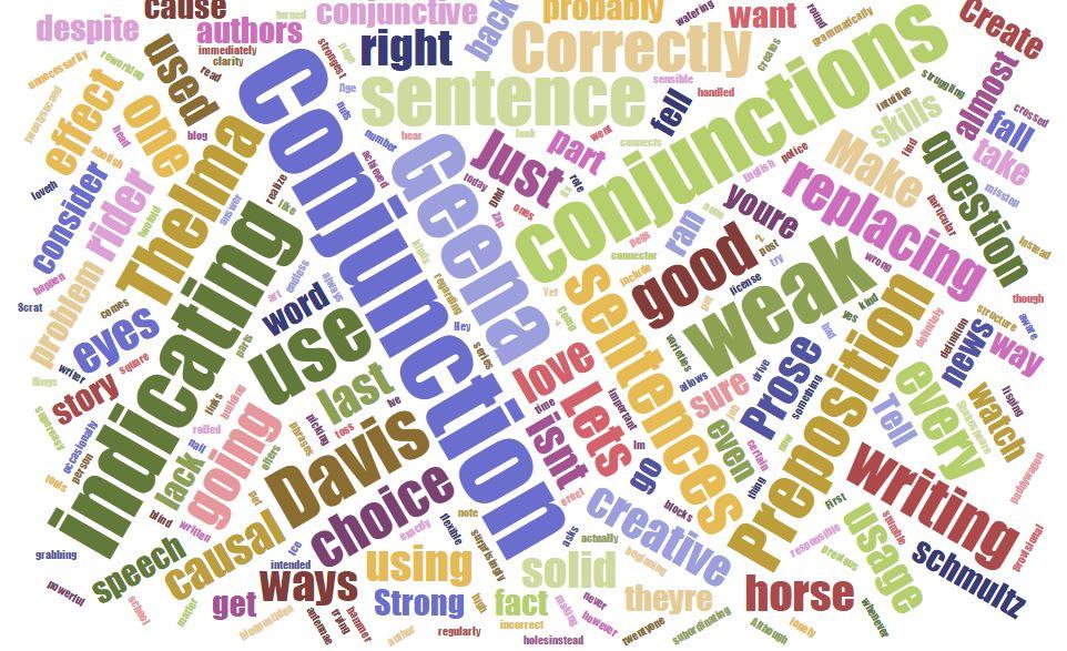 Conjunction Word Cloud
