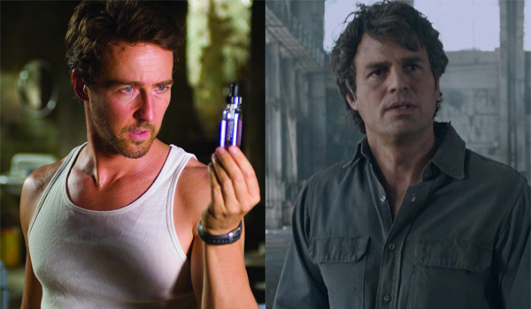Edward Norton Mark Ruffalo Hulk