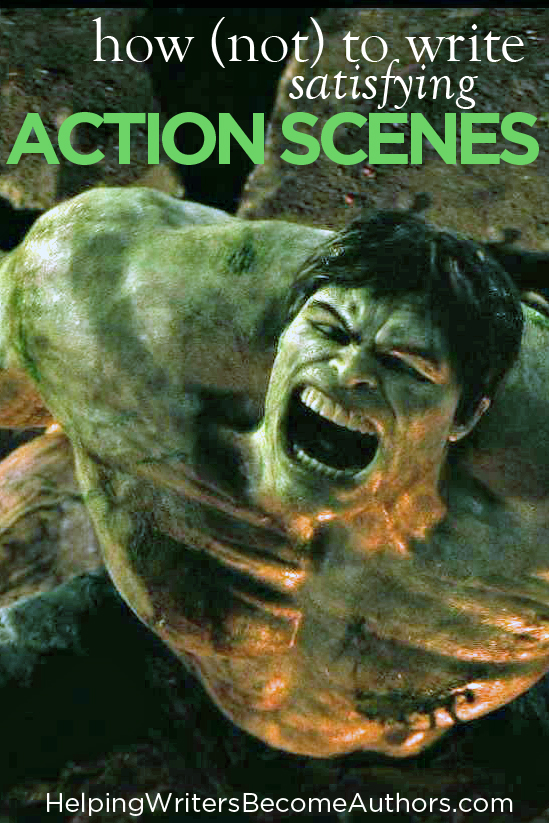 how to write action scenes in books