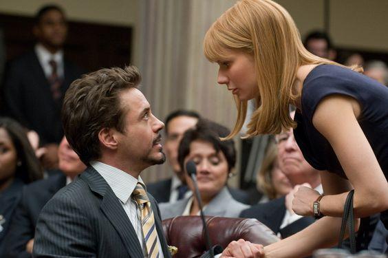 Iron Man 2 Hearing Tony Stark Pepper Potts Robert Down Jr Gwyneth Paltrow