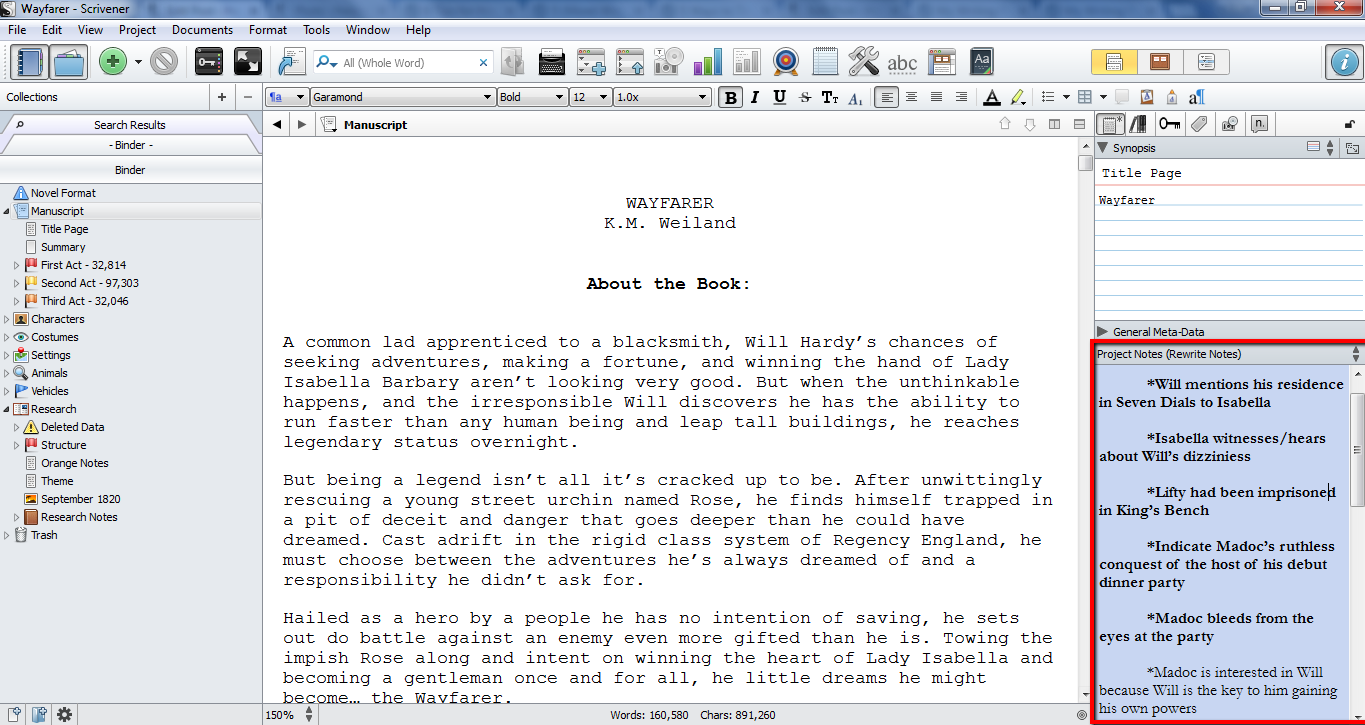 Use Scrivener To Edit Rewrite
