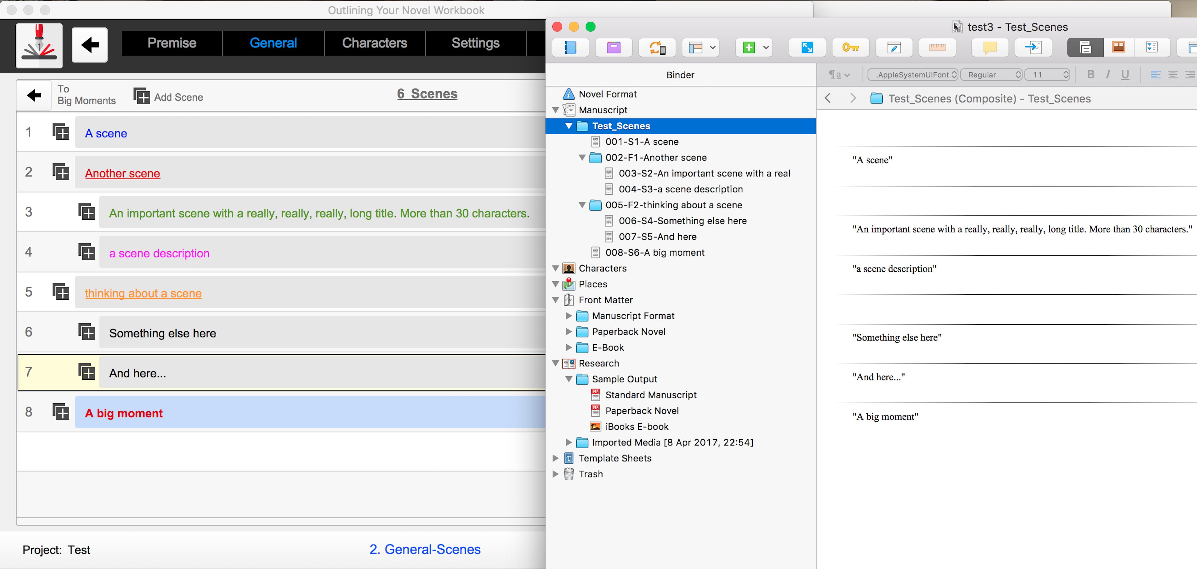 Outlining Your Novel Workbook Computer Program Export to Scrivener