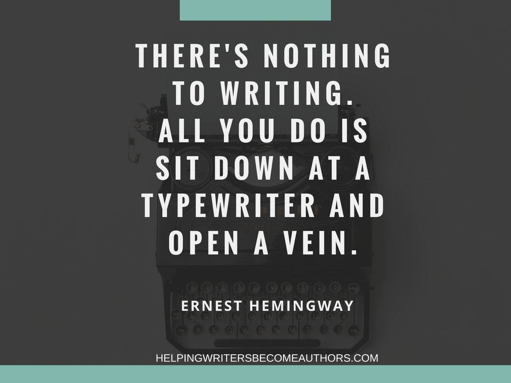 There's nothing to writing. All you do is sit down at a typewriter and open a vein.