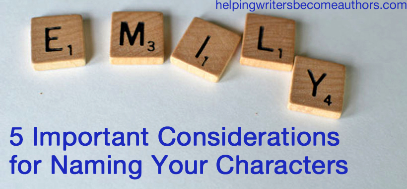 5 Important Considerations for Naming Your Characters