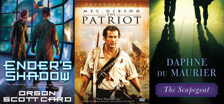 Enders Shadow Orson Scott Card Patriot Mel Gibson Scapegoat Daphne Du Maurier