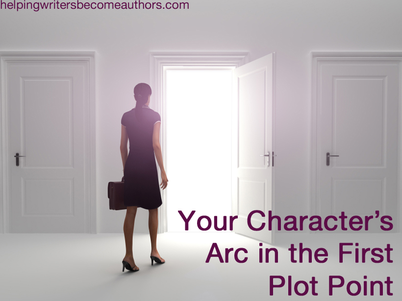 your character's arc in the first plot point