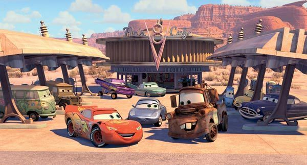 Radiator Springs Lightning McQueen Miss Sally Mater Cars