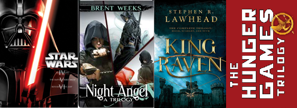 Star Wars NightAngel Brent Weeks King Raven Stephen Lawhead Hunger Games Susanne Collins
