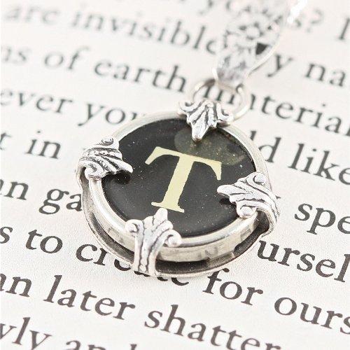 Victorian Typewriter Key Pendant Necklace