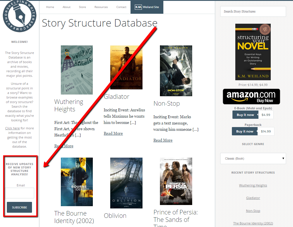 Subscribe to Story Structure Database