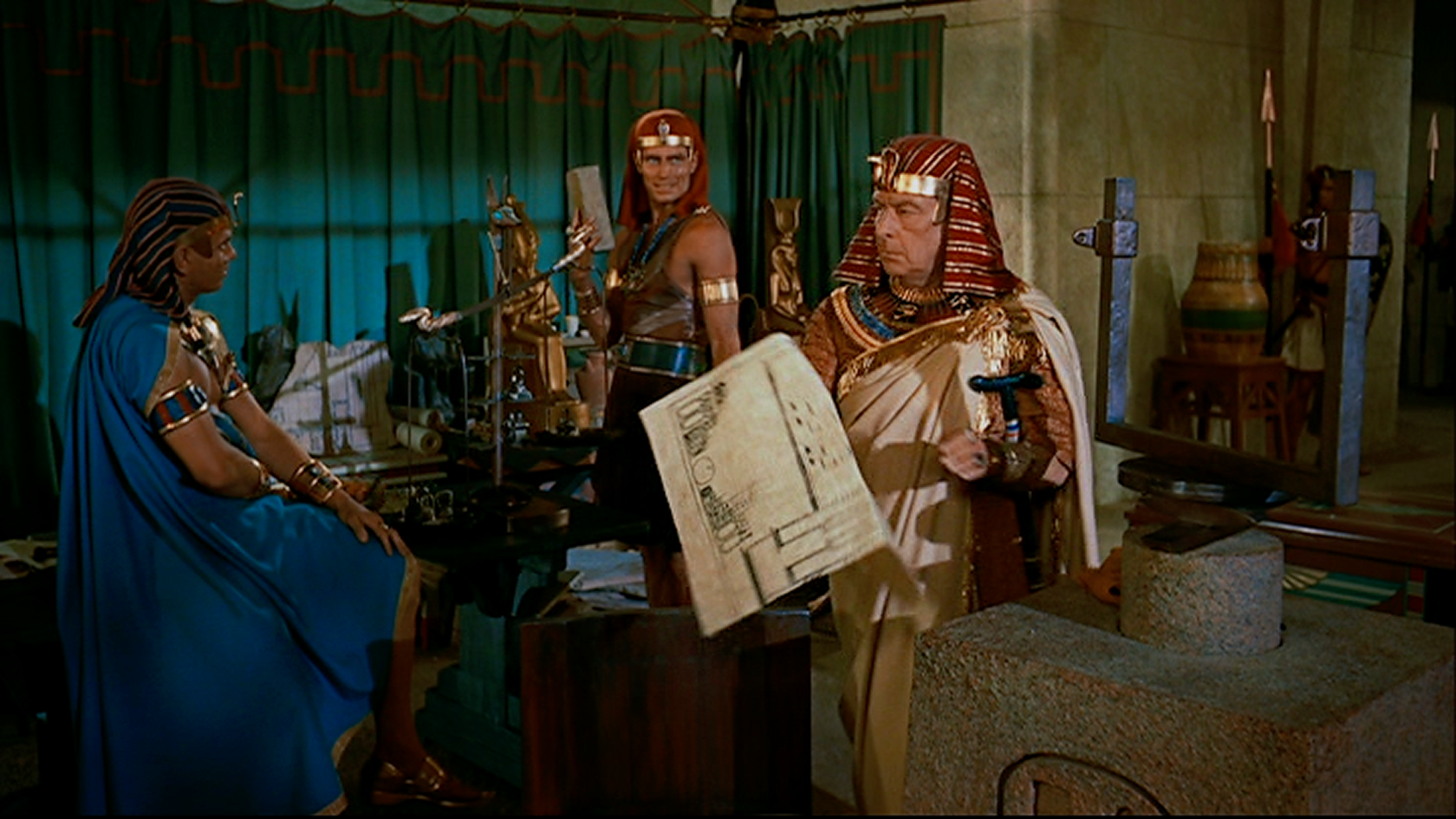 The Ten Commandments Cecil B. Demilla Yul Brynner Charlton Heston Cedric Hardwicke