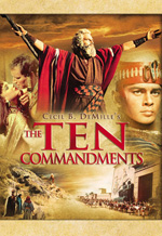Ten Commandments Cecil B DeMille Charlton Heston Yul Brynner Anne Baxter