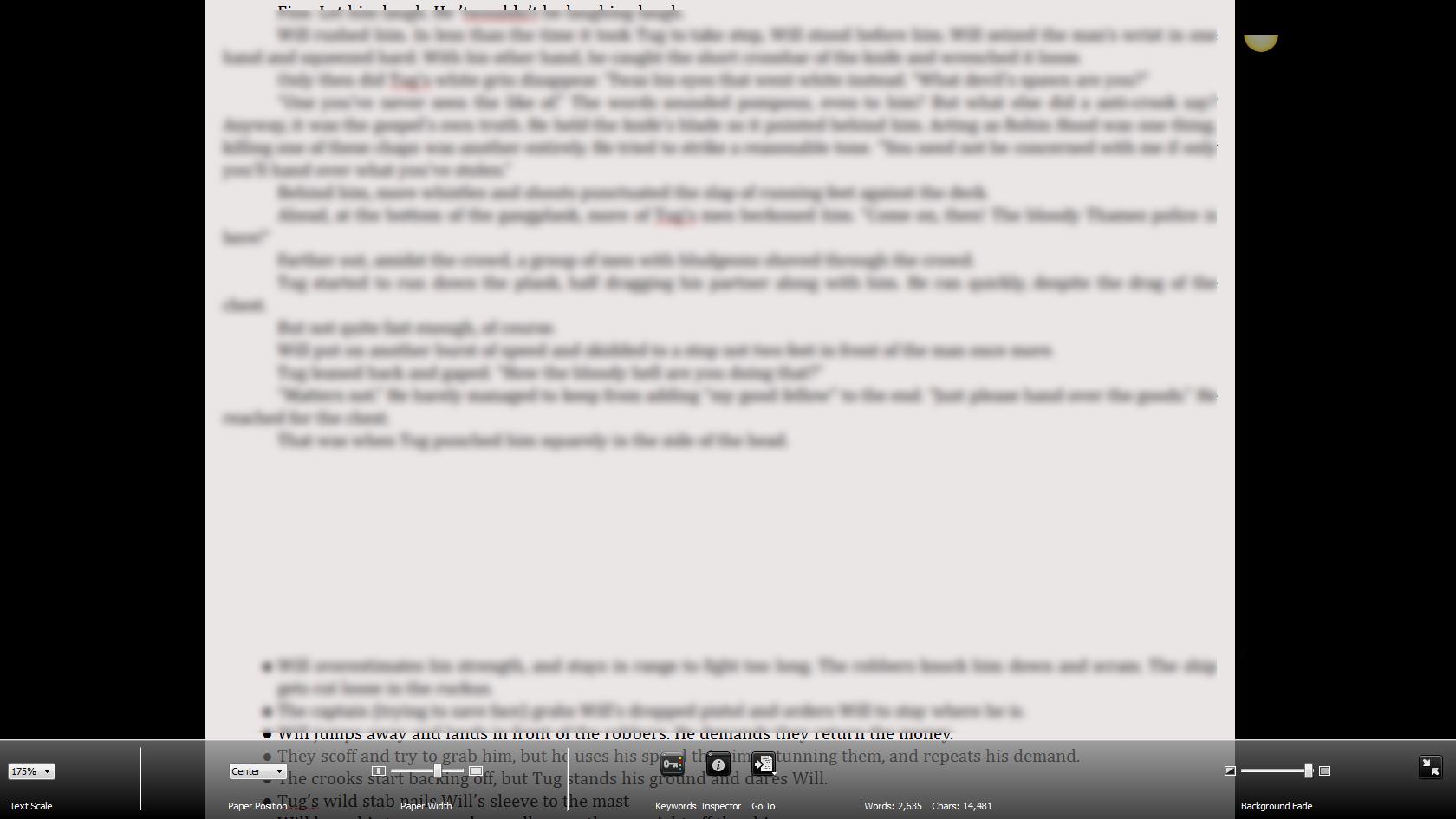 Writing Process Scrivener Full Screen Mode