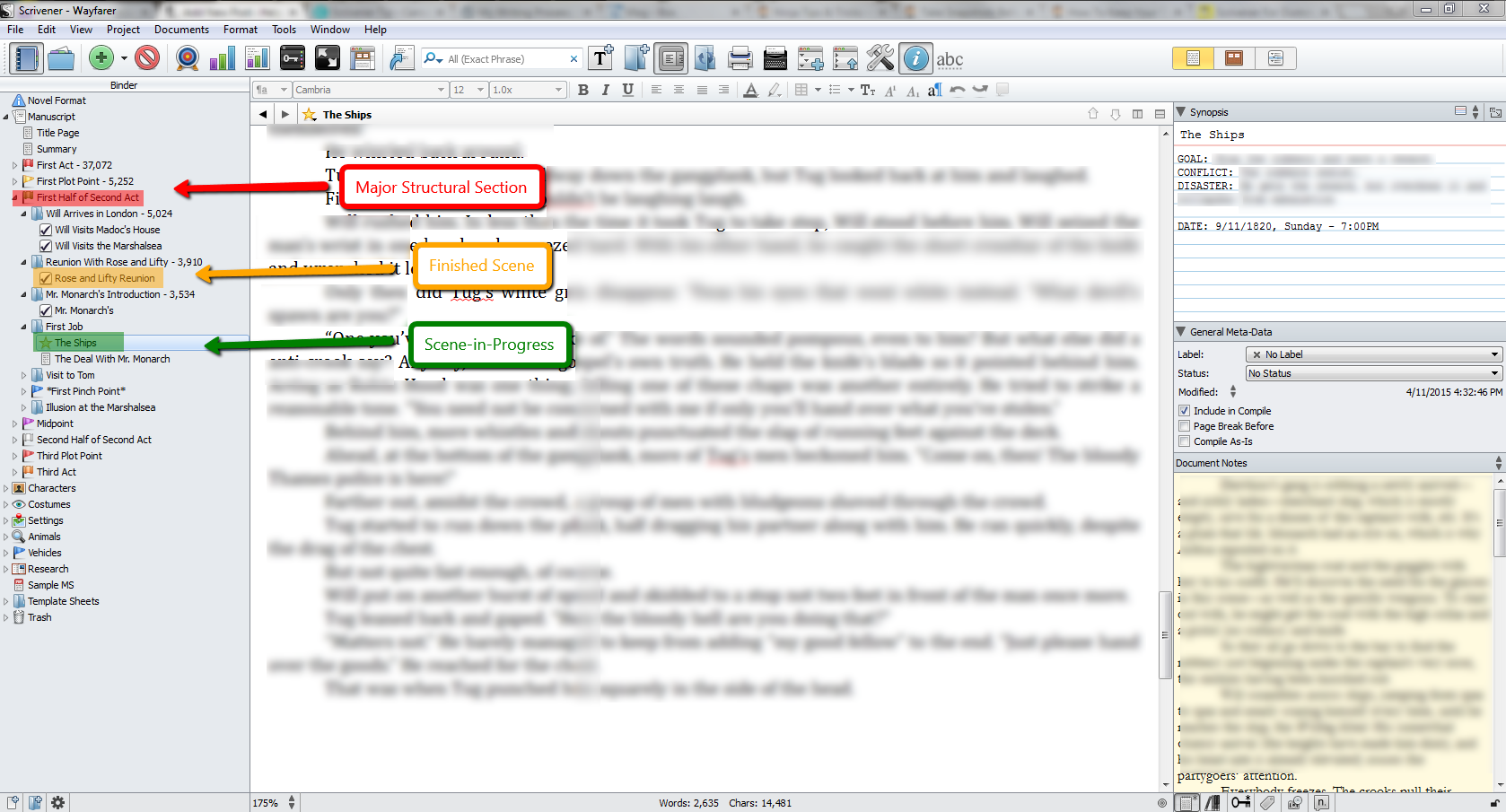 Writing_Process_Scrivener_Icons_for_Scenes_and_Chapters