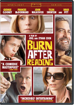 Burn After Reading Coen Brothers George Clooney Frances McDormand John Malkovich Tilda Swinton Brad Pitt