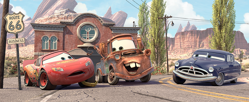 Lightning McQueen Owen Wilson Mater Larry the Cable Guy Doc Hudson Paul Newman John Lasseter Pixar Cars