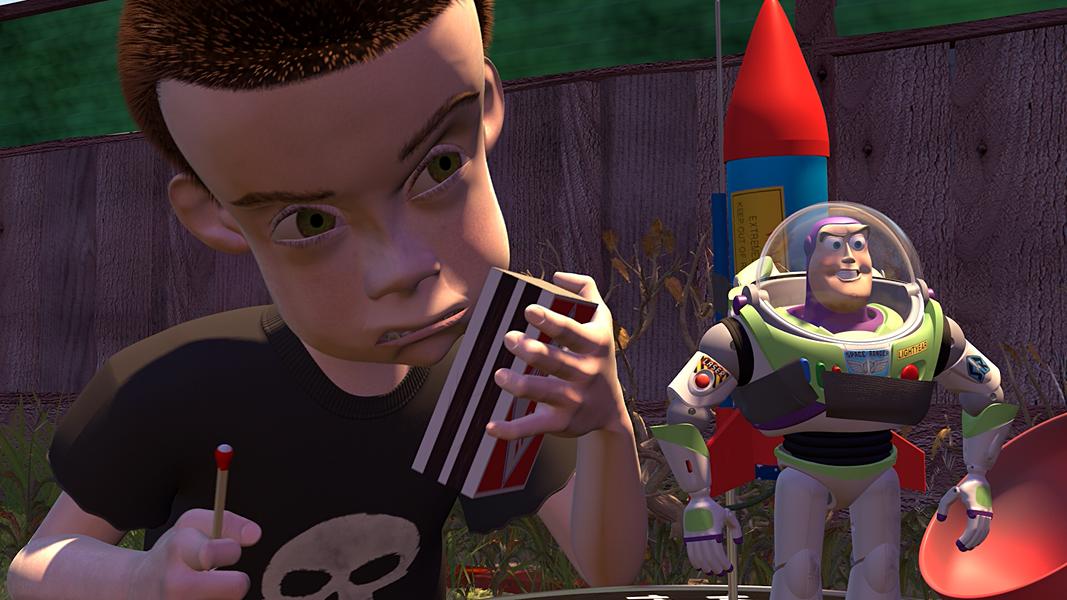 Sid's Rocket Buzz Lightyear Pixar Toy Story