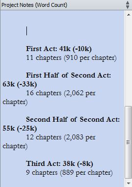 Chapter Word Count Goals for Wayfarer's First Draft