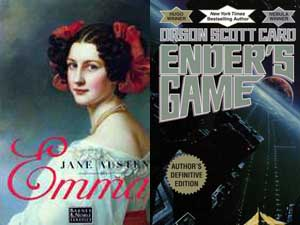 Emma Jane Austen Ender's Game Orson Scott Card