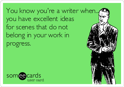 You Have Excellent Ideas for Scenes That Do Not Belong in Your Work In Progress You Know You Are a Writer When