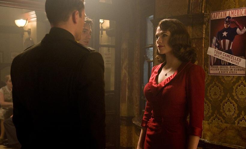 Captain America First Avenger Bar Scene Peggy Red Dress