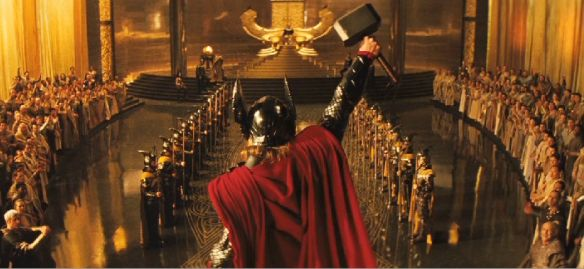 Thor Throne Room Coronation Chris Hemsworth