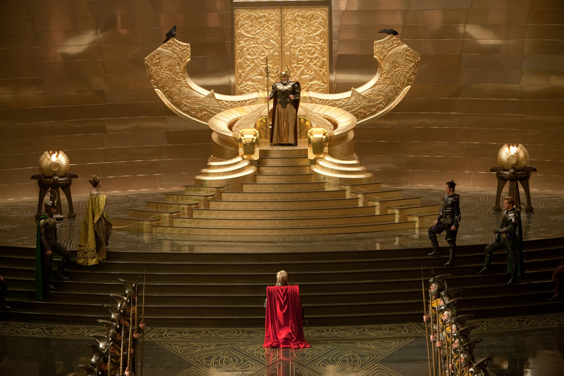 Thor Throne Room Coronation Scene