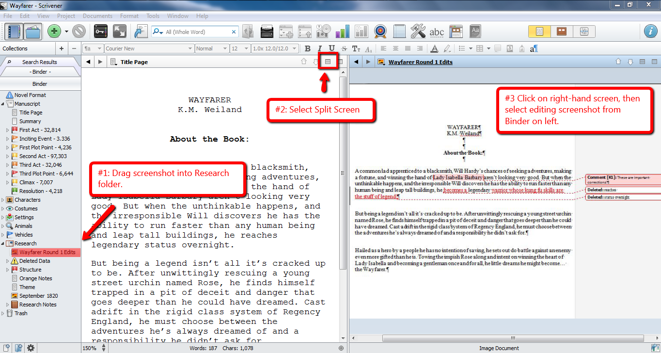 How to Use Track Changes in Scrivener