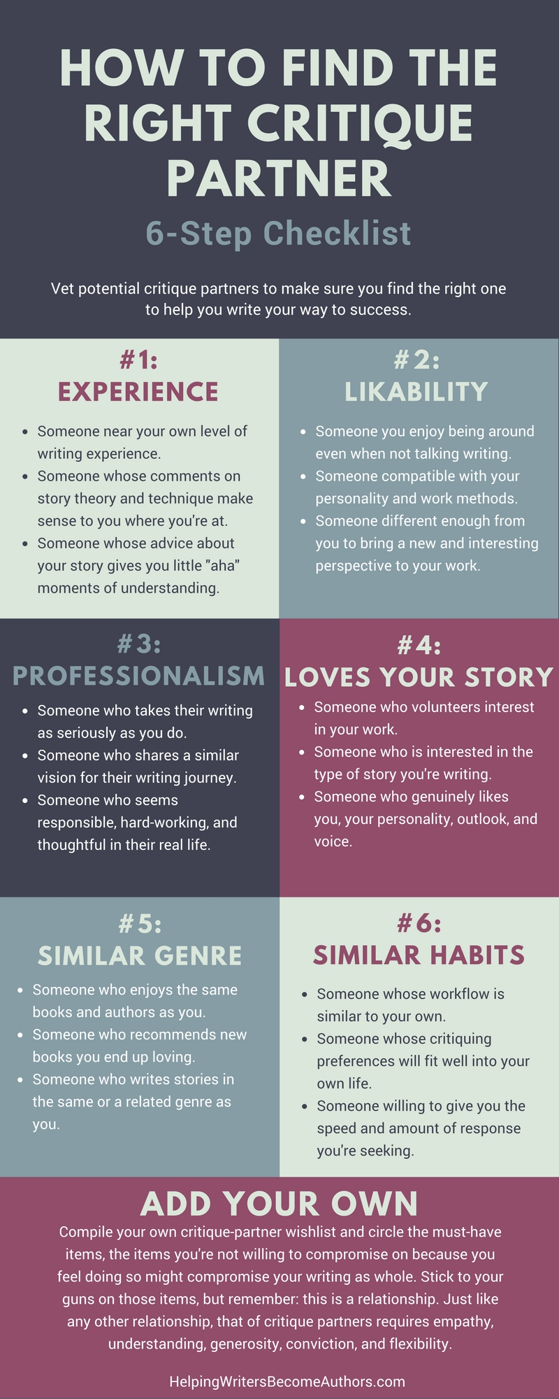 How to find the right critique partner