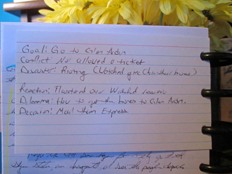 Scene Structure Note Card Write Mind Planner
