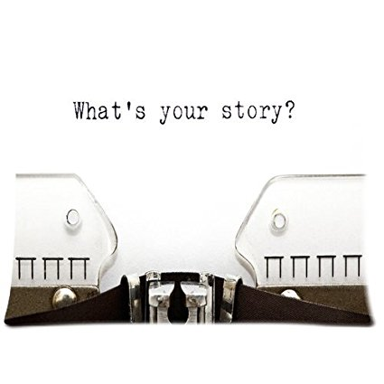 Gift for Writers 5: What's Your Story Typewriter Pillowcase
