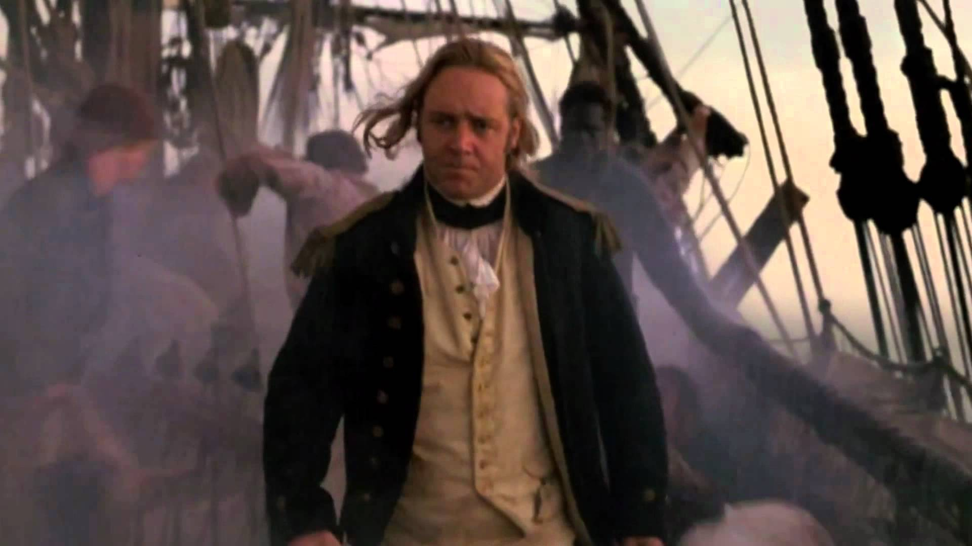 Russell Crowe Master and Commander Opening Scene