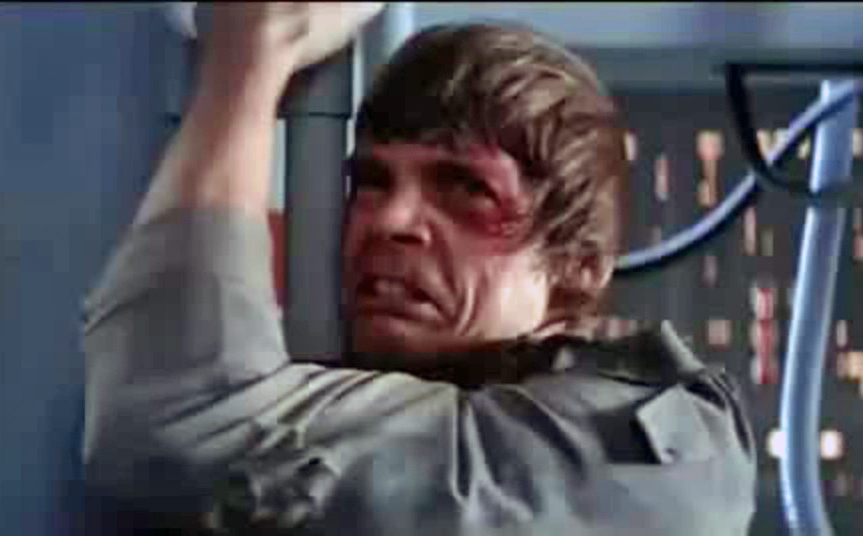 Star Wars Empire Strikes Back Luke Skywalker Noooo