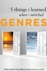5 Things I Learned When I Switched Genres